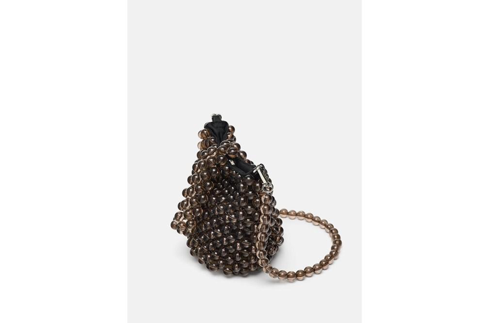 Zara Mini Beaded Bucket Bag