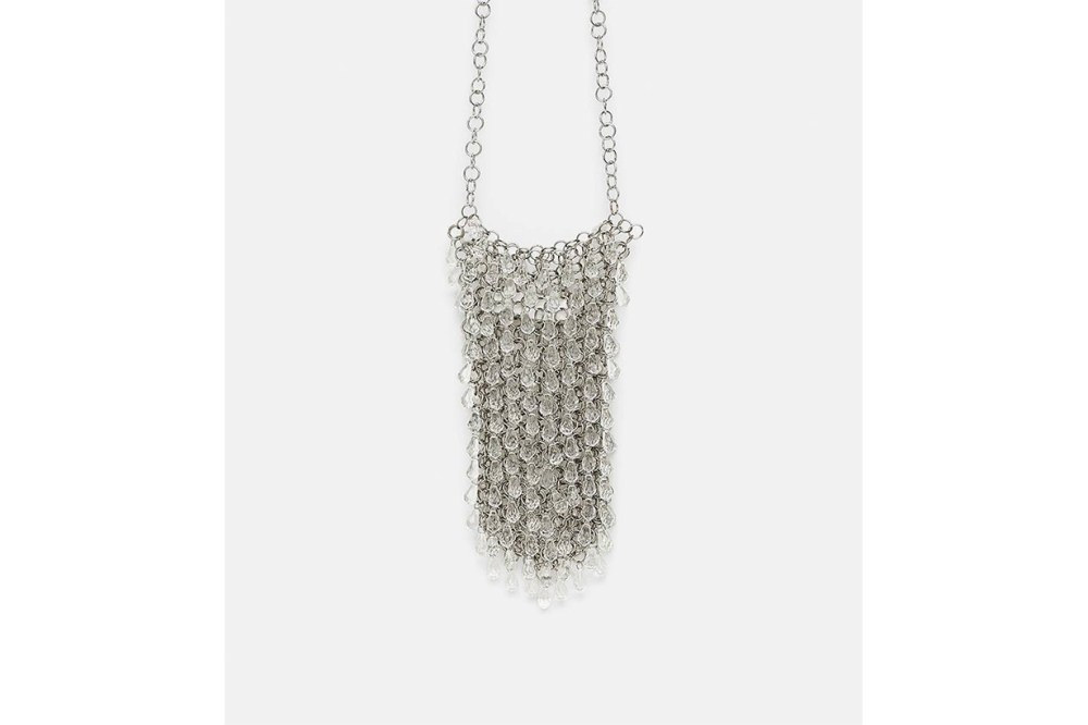 Zara Mini Gemstone Embellished Crossbody Bag