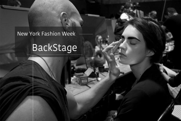 #NYFW:時裝周後台告訴你,T台上的完美妝容都用手畫出來的!