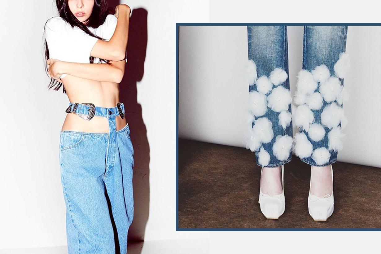 dramatic denim jeans style
