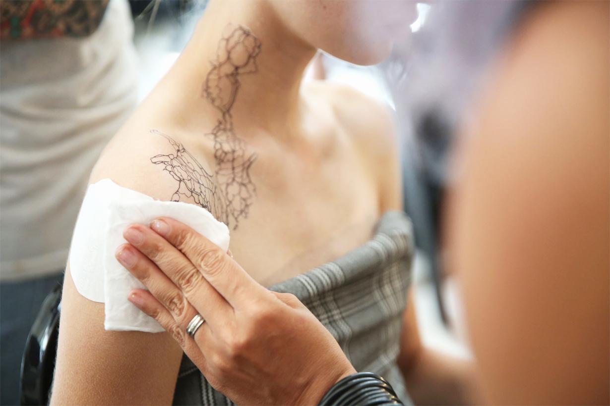 Dion Lee New York Fashion Week Spring Summer 2019 Temporary Tattoo Tattoo Trend