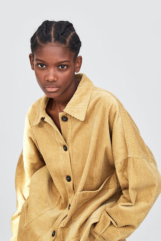 FW2018 fashion trend CORDUROY zara lookbook
