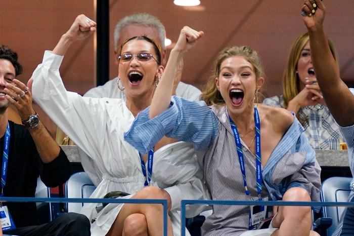 姊妹裝就是要這樣穿:Gigi 和 Bella 將露肩時尚帶到網球賽現場!