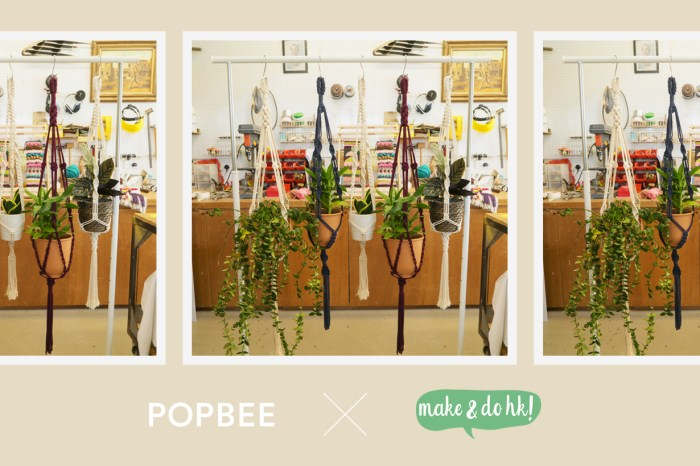 #POPBEEbash:一起參與「 POPBEE x Make & Do HK! 」吊繩盆栽編織工作坊