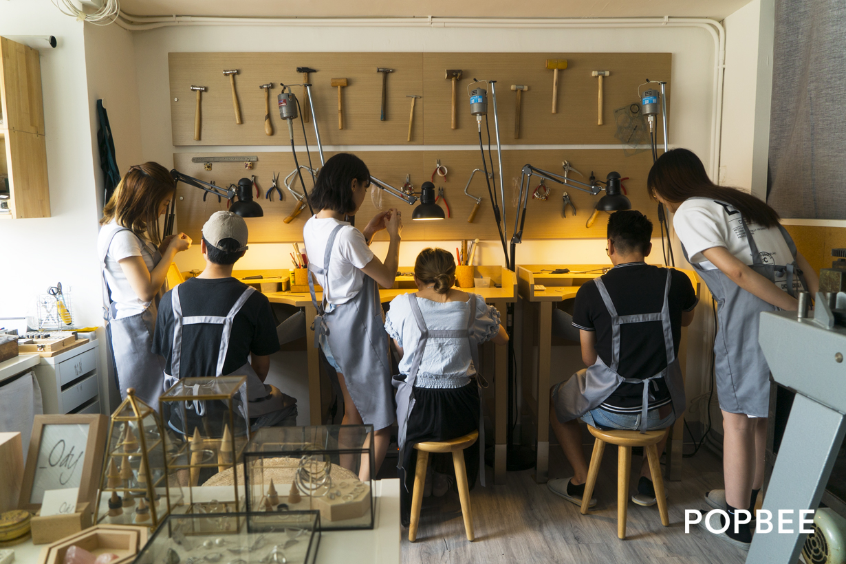 POPBEE x Ody 手造純銀戒指工作坊體驗銀匠設計背後手工