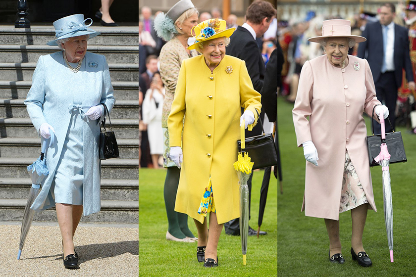 queen elizabeth umbrella color matching