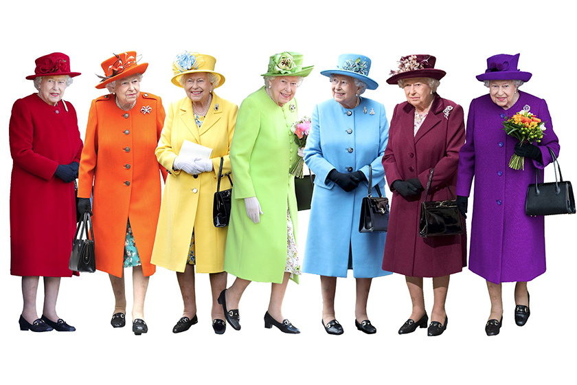 queen rainbow color outfits pantone