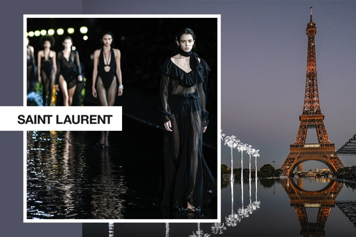 #PFW:於巴黎鐵塔下發佈最新系列,Saint Laurent 證明黑色就是性感的代名詞!