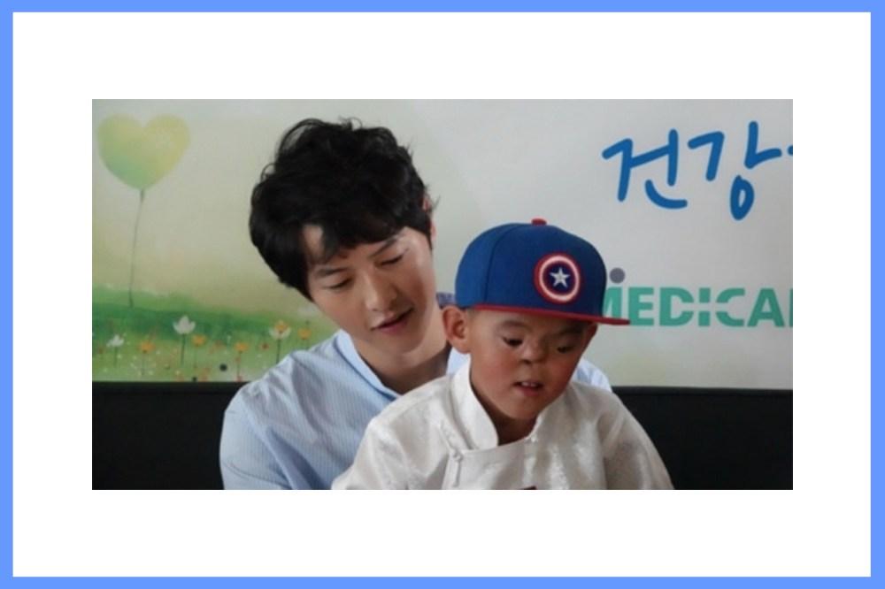 Song Joong Ki Nergui Medical Service Ambassador Face Differences patient charity kind hearted Korean Idols Korean Actors