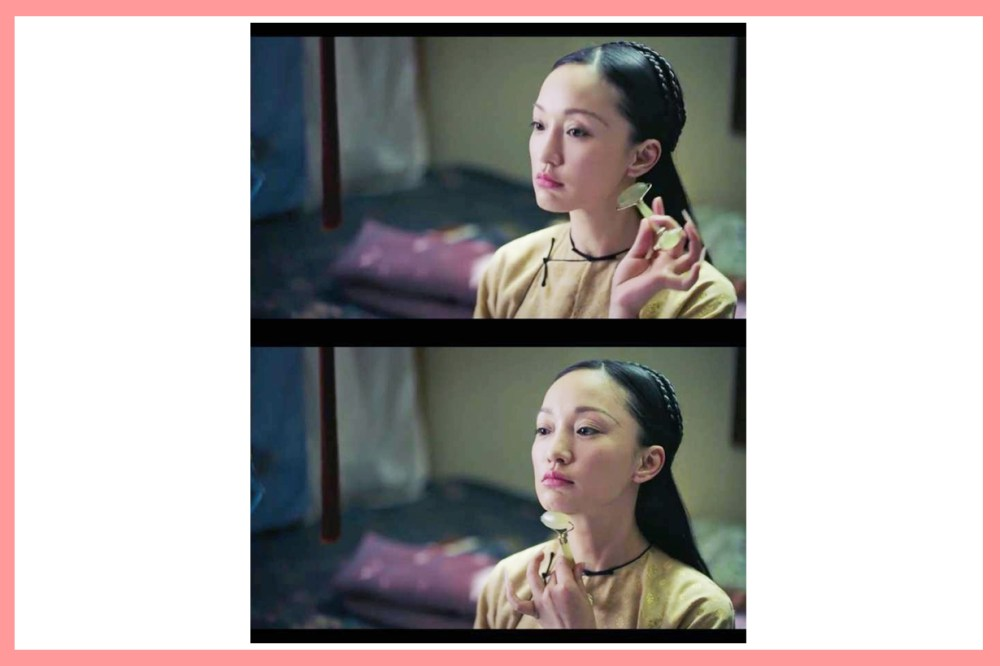Ruyi's Royal Love in the Palace Ru Yi Zhuan Zhou Xun Jade Facial Roller Herbivore Face Massage Traditional Chinese Skincare