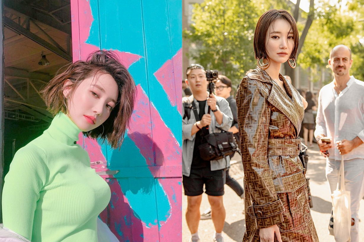 Go Joon-hee short hairstyle inspiration bangs curly straight