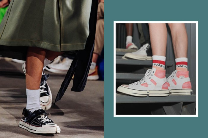 帆布鞋控別錯過:中國設計師大膽將 Converse 對摺一半,不怕再跟別人撞鞋!