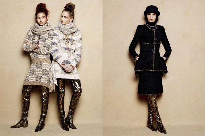 穿了 Chanel 秋冬新推出的鞋款,都會變成 42 吋長腿!