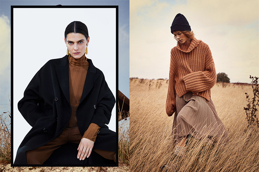 ZARA timeless brown items for autumn