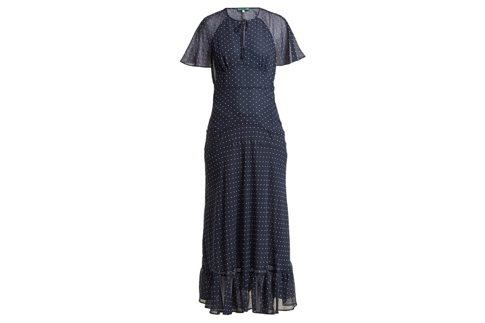 AlexaChung Polka Dot Print Crepe Dress