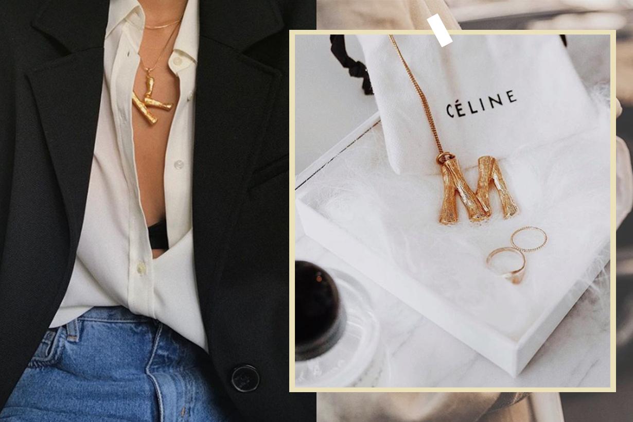 Celine Initial Pendant Necklace