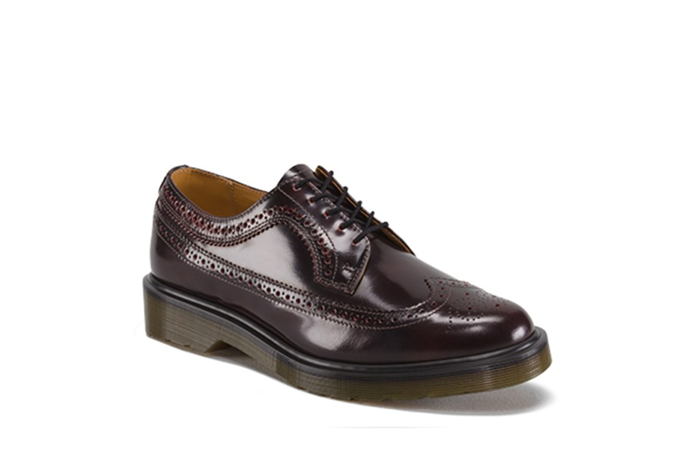 Dr Martens 3989 Cherry Stacked Brogues