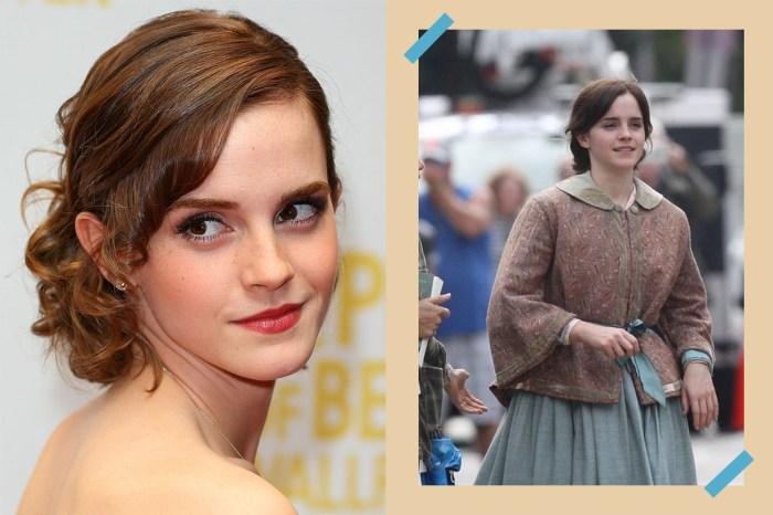 這不就是 Emma Watson 嗎?她演《小婦人》坐馬車的造型曝光!