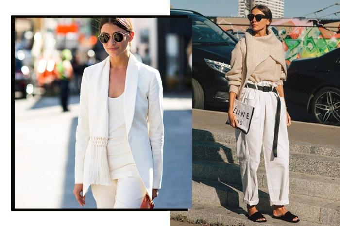 米白、奶油色⋯交織出素色簡潔穿搭,這些時尚街拍才有最高參考價值!