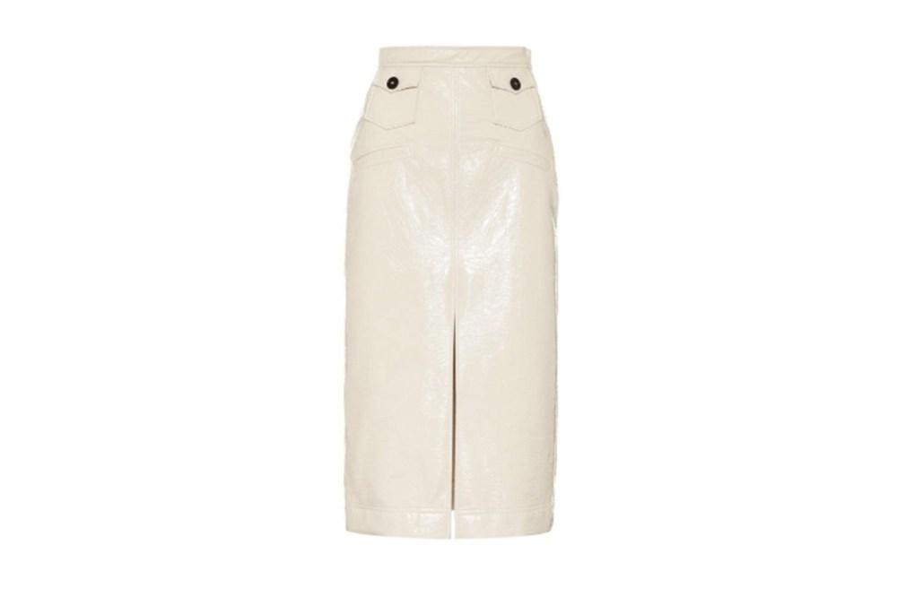 Alexa Chung Faux-leather-pencil-skirt