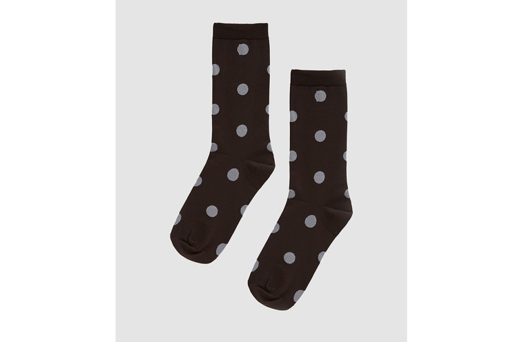 Ganni Classon Dot Socks in Ganache