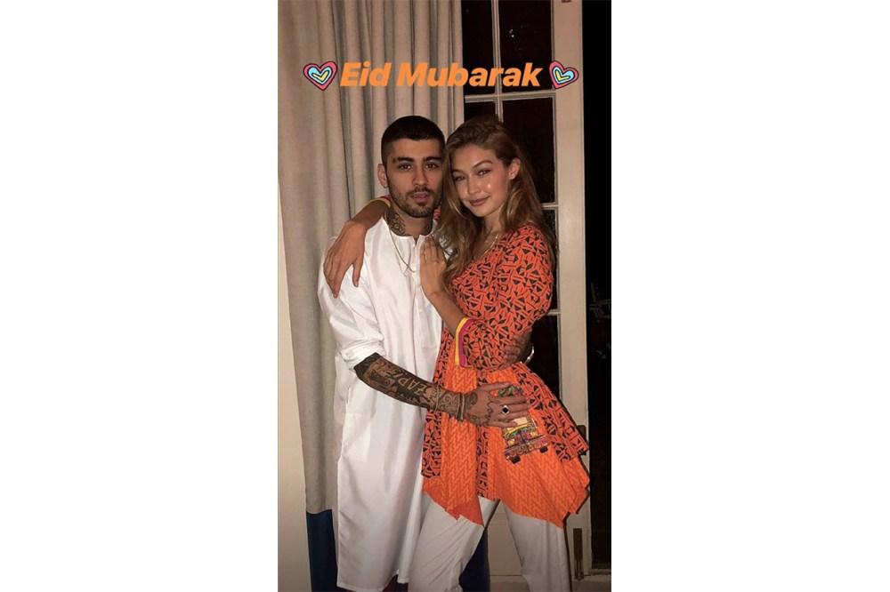 Zayn Malik and Gigi Hadid Instagram