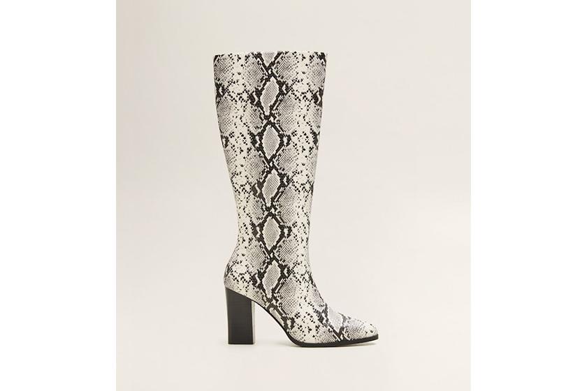 Mango Snake-Effect Boots