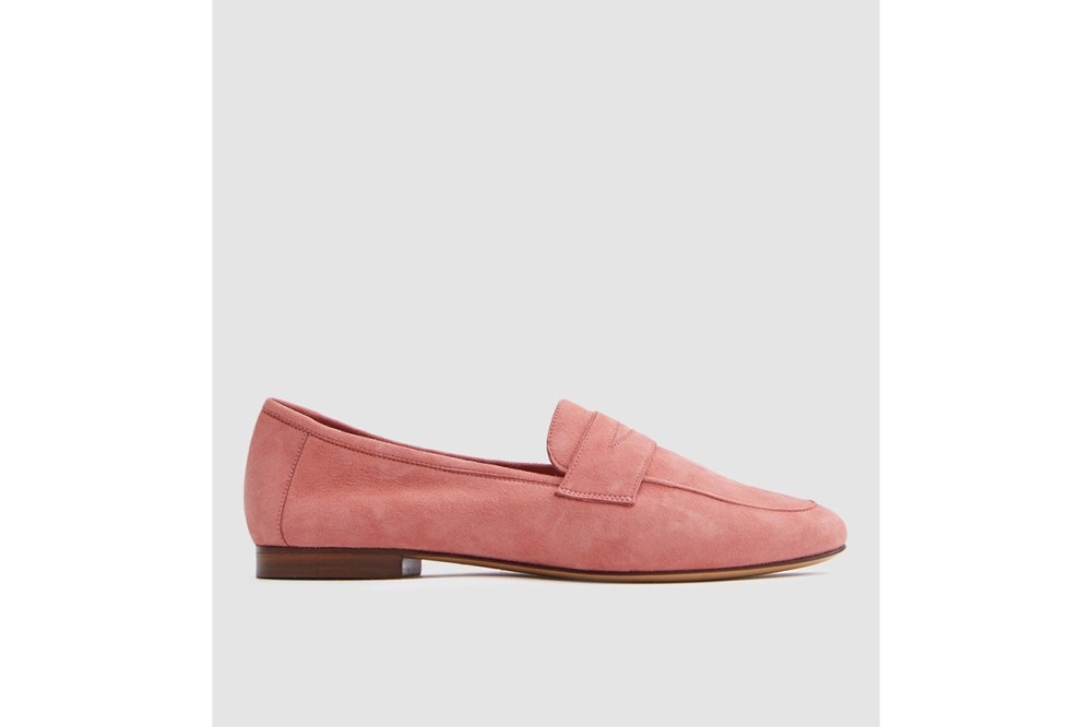 Mansur Gavriel Classic Loafer in Blush Suede