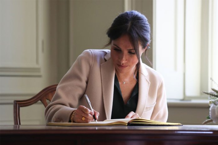 你發現梅根簽名不同了嗎?她成為王妃後連姓氏都捨棄了?