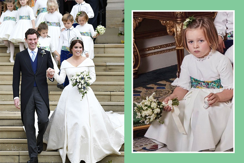 Mia Tindall Holding what in Princess Eugenie's Wedding Portraits