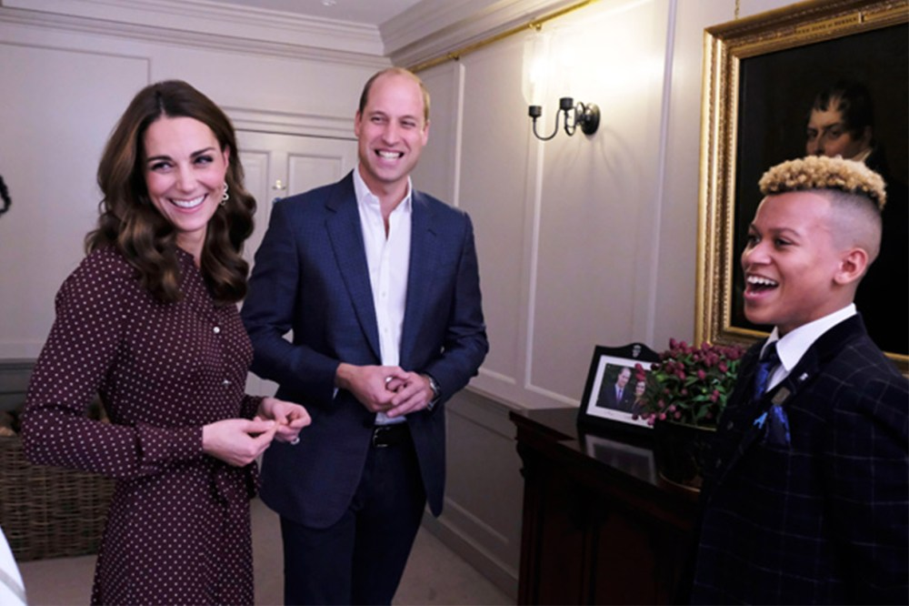 William and Kate chatted with 14-year-old Junior