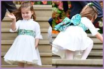 夏洛特公主在婚禮向大眾送上飛吻,卻發生了一段很萌的小插曲!