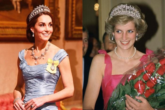 凱特王妃以百年古董珠寶亮相國宴,其中一件世紀之作更是戴妃的最愛!