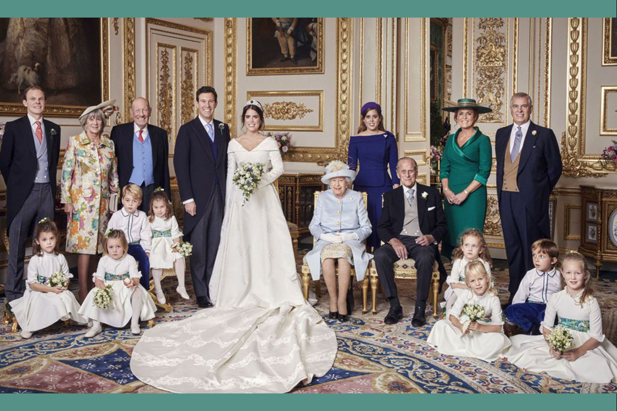 Savannah Phillips makes cheeky move in official royal wedding portrait