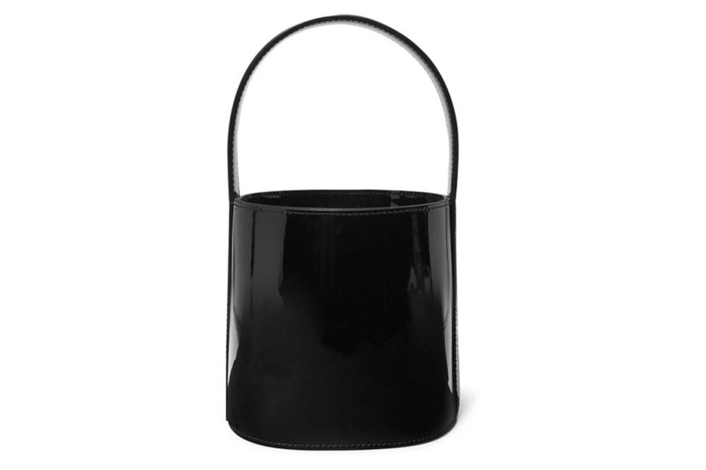 Staud Bissett Patent-Leather Bucket Bag