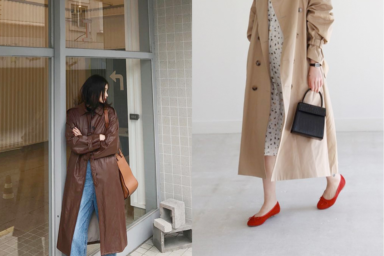 trench coat inspiration korean girl fall