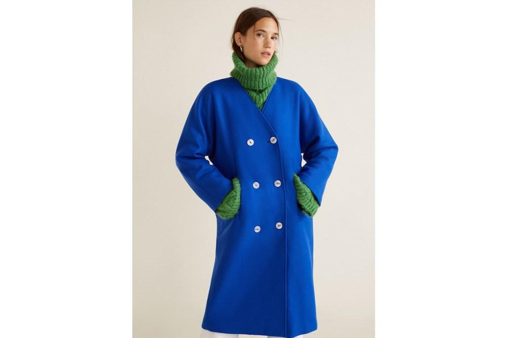 Mango Unstructured virgin wool coat