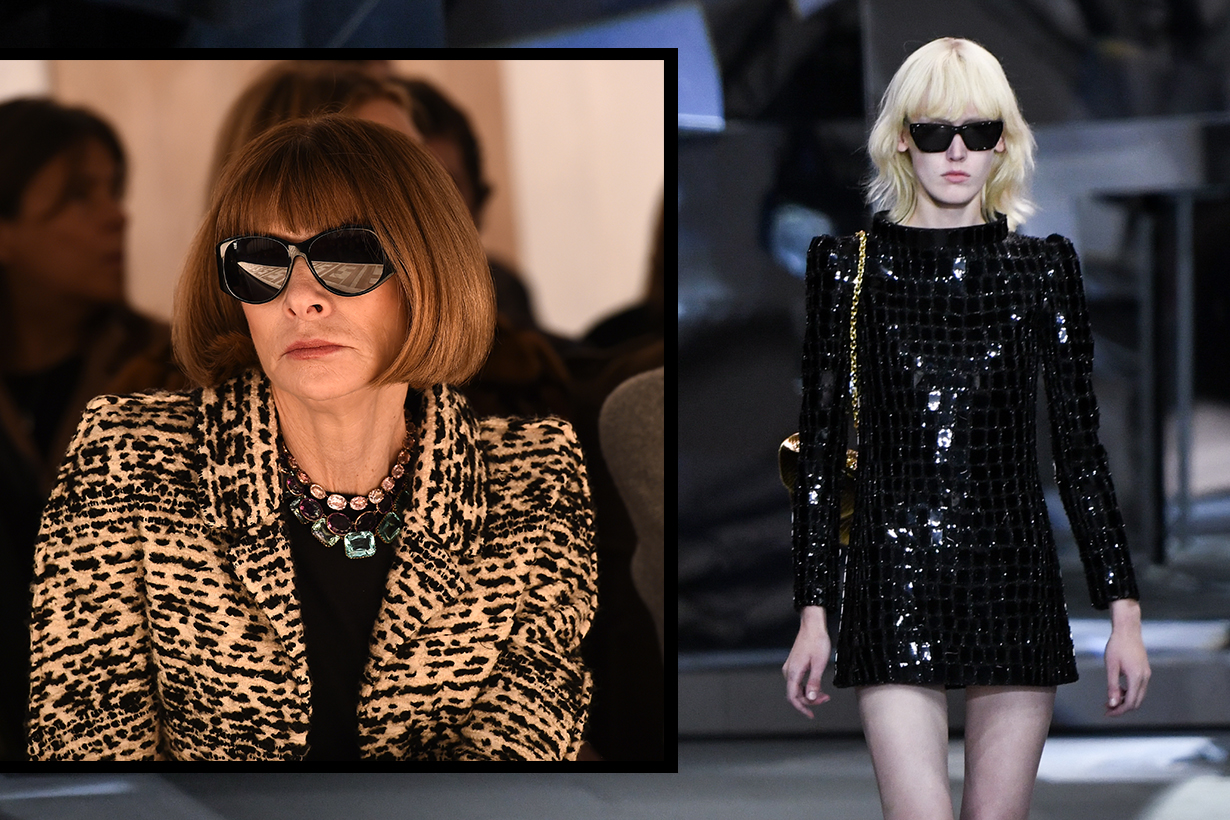 What Anna Wintour think about celine by Hedi Silmane