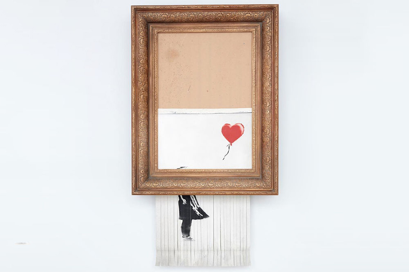 banksy sothebys love is in the bin Girl With a Balloon