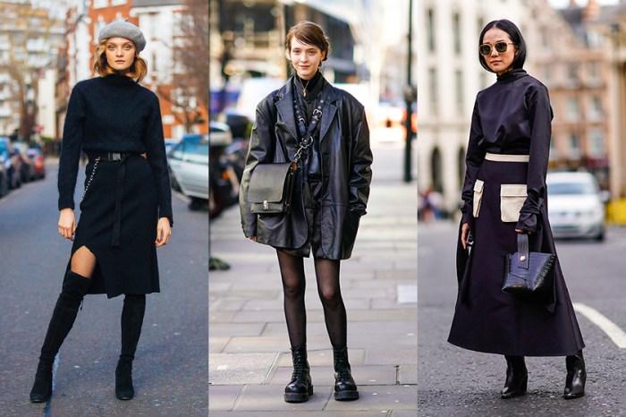 30+ 初秋黑色街拍造型,強大時尚氣場是這樣穿出來的!