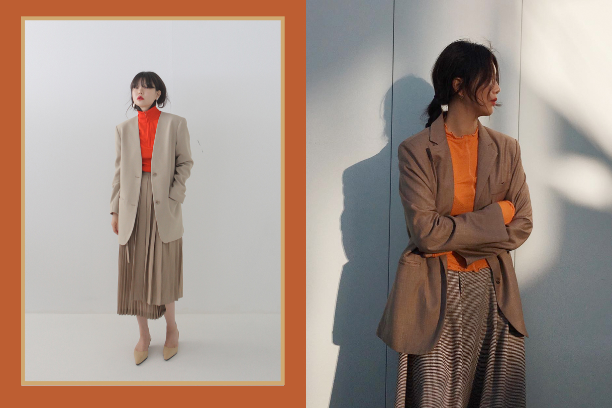 camel tan blazer outfit trend ideas style