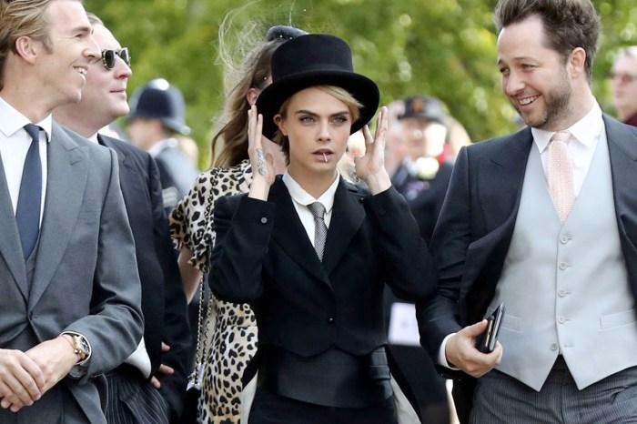 Cara Delevingne 出席皇室婚禮,燕尾服搭高帽帥到殺光所有底片!