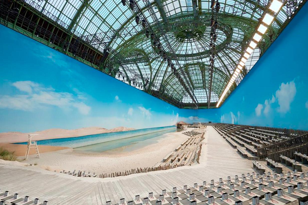 chanel pfw paris 2019 ss grand palais create actual beach