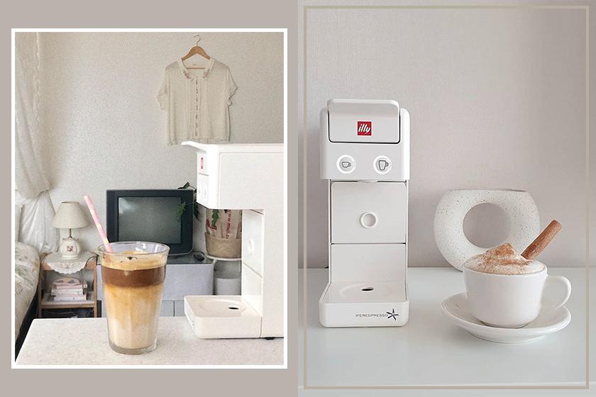 instagram korea girl coffee illy coffee maker