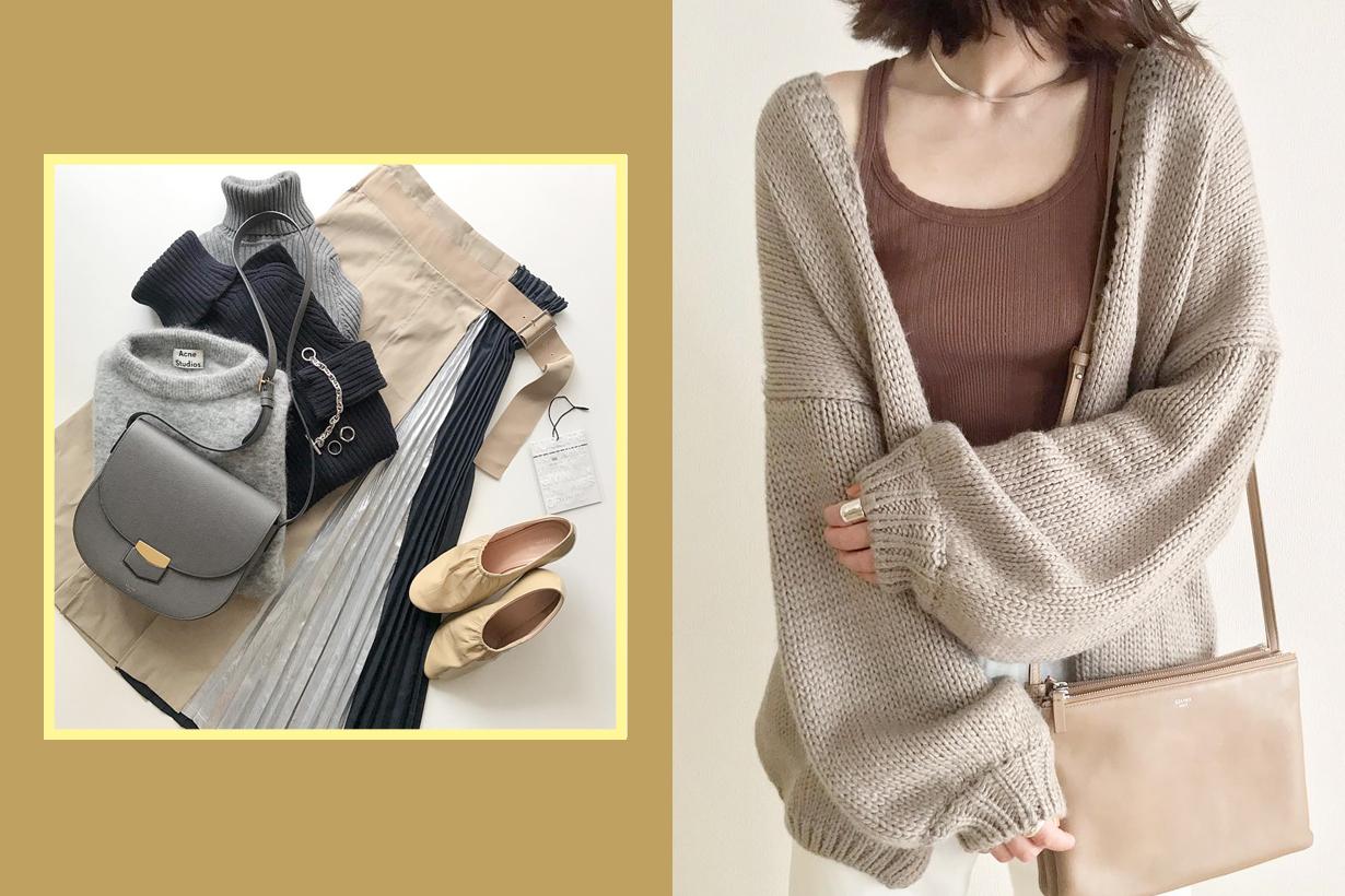 izumii _____sui._____ instagram ootd japanese girl knit wear