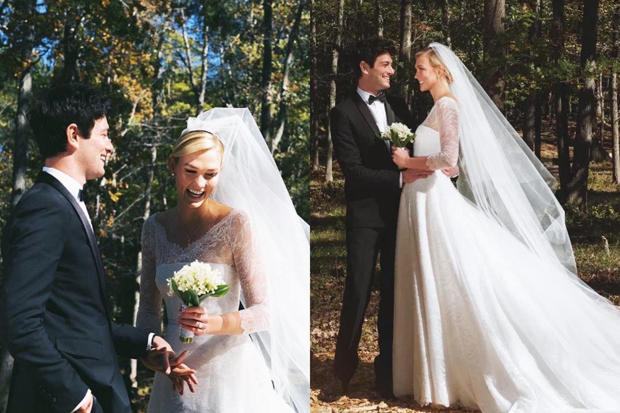 Karlie Kloss Joshua kushner Jared kushner brother married New York Jewish wedding Dior wedding gown