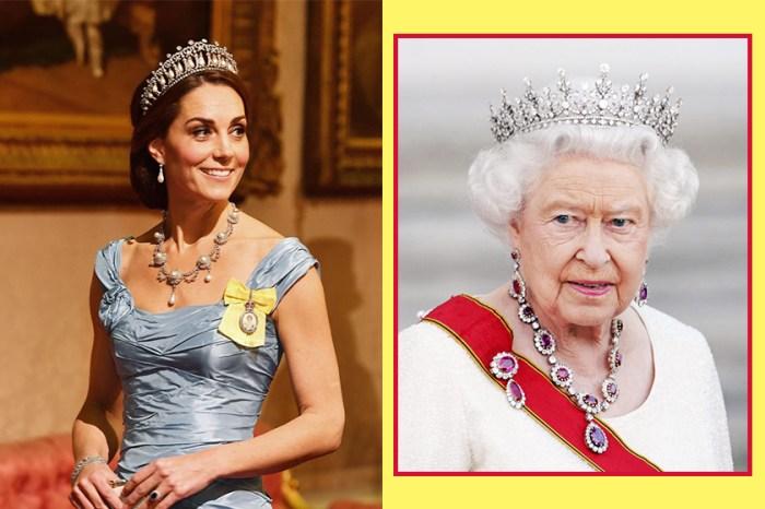差點走漏眼!凱特身上掛著的勳章,原來是顯示了英女王對她的喜愛!