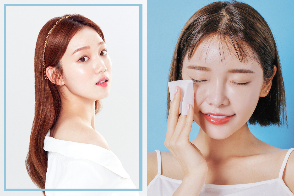 Korean Girls Toner Skincare Routine Cotton Pad sensitive skin Clear pores applying toner  Korean skincare tips K beauty