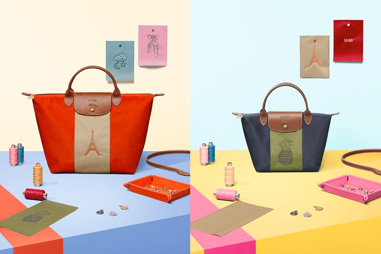 longchamp customize bag le pliage taipei limited pop-up service