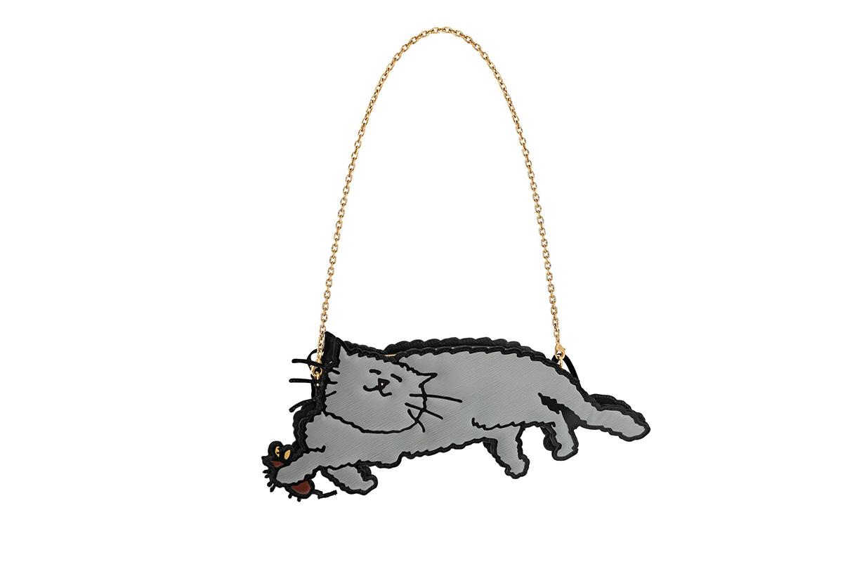 Louis vuitton Grace Coddington Catogram Collection with cute cat illustration